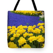 Yellow Tulips And Blue Muscari In Dutch Garden Tote Bag