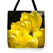 Yellow Tulips Floral Art Prints Nature Garden Tote Bag