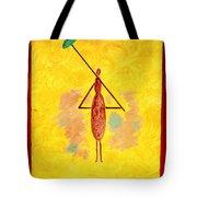 Yellow Umbrella  Lady Tote Bag