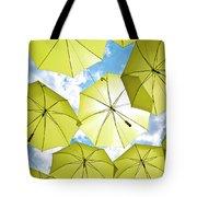Yellow Umbrellas Tote Bag