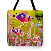 Yellow Underwater Tote Bag