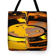 Yellow Vortex Tote Bag