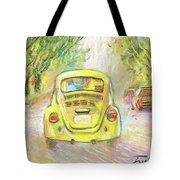 Yellow Vw Tote Bag