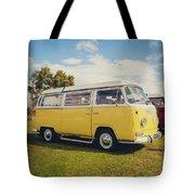 Yellow Vw T2 Camper Van 02 Tote Bag