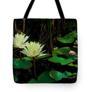 Yellow Water Lilies Tote Bag