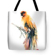 Yellow Wild Bird Tote Bag