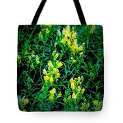 Yellow Wild Flowers In Late Summer Tote Bag
