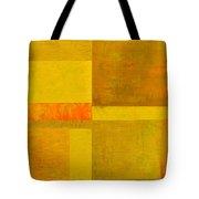 Yellow With Orange Tote Bag