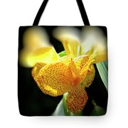 Yellow With Red Spots Tote Bag by Douglas Barnard