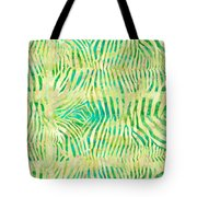 Yellow Zebra Print Tote Bag