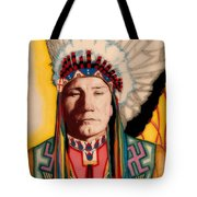 Yellowhead, A North America Indian Medical Practitioner Tote Bag