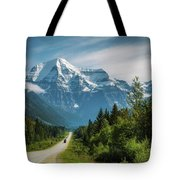 Yellowhead Highway In Mt. Robson Provincial Park, Canada Tote Bag