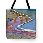 Yellowstone Abstract I Tote Bag by Teresa Zieba
