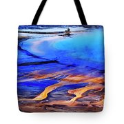 Yellowstone Grand Prismatic Spring Geothermal Water Tote Bag