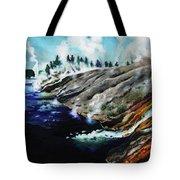 Yellowstone Hot Springs Tote Bag