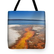 Yellowstone Lake And West Thumb Geyser Flow Tote Bag