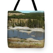 Yellowstone Mineral Ponds Tote Bag