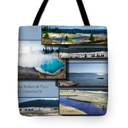 Yellowstone Park August Panoramas Collage Tote Bag