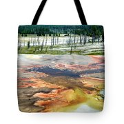 Yellowstone Park Firehole Spring Area Vertical 02 Tote Bag
