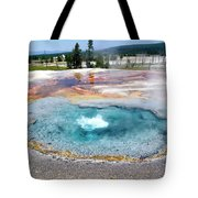 Yellowstone Park Firehole Spring In August 02 Tote Bag