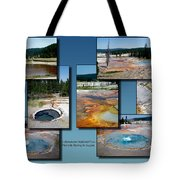 Yellowstone Park Firehole Spring In August Collage Tote Bag