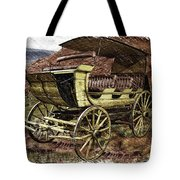 Yellowstone Park Stage Coach With Horses Pa 01 Tote Bag