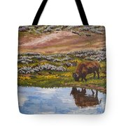 Yellowstone Reflections Tote Bag by Erin Fickert-Rowland