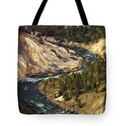 Yellowstone River Canyon Tote Bag