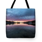 Yellowstone River Sunrise Colors Tote Bag