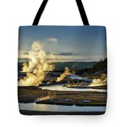 Yellowstone's Midway Geyser Basin  Tote Bag