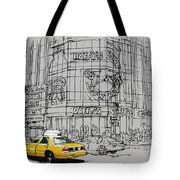 Yelow Cab On New York Streets Tote Bag