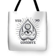 Yes No Goodbye Magic Ouija Vintage Planchette Design Tote Bag