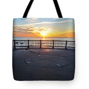 Yes, The Sun Rises To The East Red Rock Park Lynn Shore Drive Tote Bag