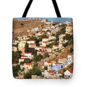 Yialos Town On Symi Island Tote Bag