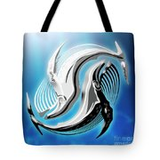 Yin And Yang Whale Tote Bag
