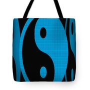 Yin Yang Blue Mosaic Tote Bag