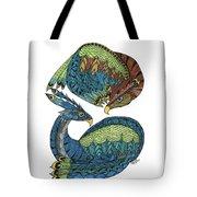 Yin Yang Dragons Tote Bag by Barbara McConoughey