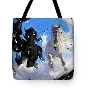 Yin Yang Horse Tote Bag