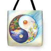 Yin Yang Spring And Autumn Tote Bag
