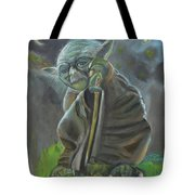 Yoda In Starry Night Tote Bag