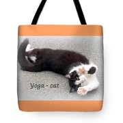 Yoga - Cat Tote Bag