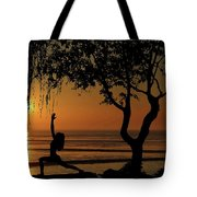 Yoga By The Bay At Sunset Tote Bag