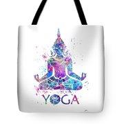 Yoga Meditation Watercolor Print Tote Bag