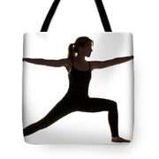 Yoga Pose Warrior II Tote Bag