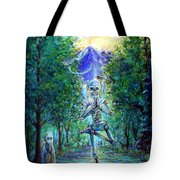Yoga Tree Tote Bag