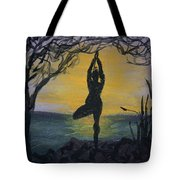Yoga Tree Pose Tote Bag