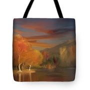 Yorba Linda Lake By Anaheim Hills Tote Bag