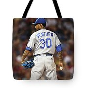 Kansas City Royals, Yordano Ace Ventura,  Painting, Forever Blue Tote Bag