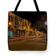 York South Carolina Downtown During Christmas Tote Bag