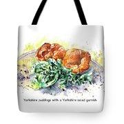 Yorkshire Puddings With Yorkshire Salad Garnish Tote Bag